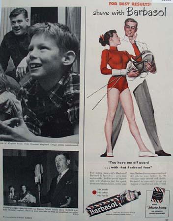 Barbasol Shaving Cream 1949 Ad