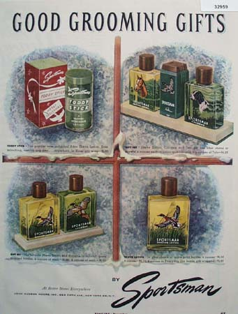 Sportsman Shaving Lotion and Cologne 1951 Ad