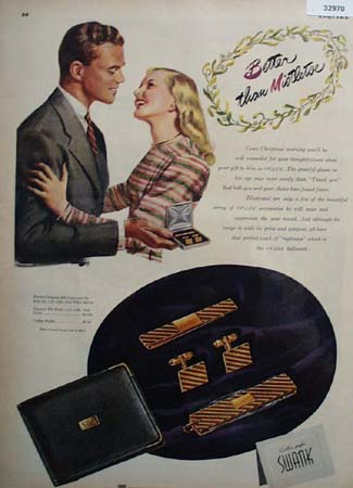 Swank Mens Accessories 1947 Ad