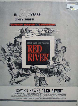 Monterey Productions Movie Red River 1948 Ad