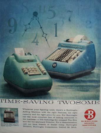 Burroughs Adding Machines Twosome 1951 Ad