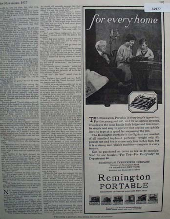 Remington Portable Typewriter 1927 Ad