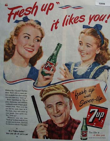 7up Fresh Up With Seven Up 1944 Ad