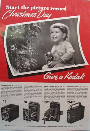 Eastman Kodak Co. Christmas Ad 1936