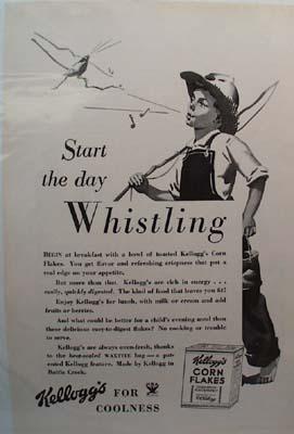 Kellogg's Corn Flakes Whistling Ad 1934