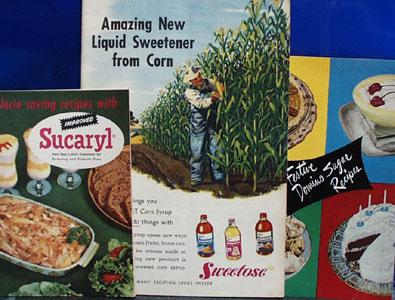3 Cookbooks Using Different Sweetners 1955