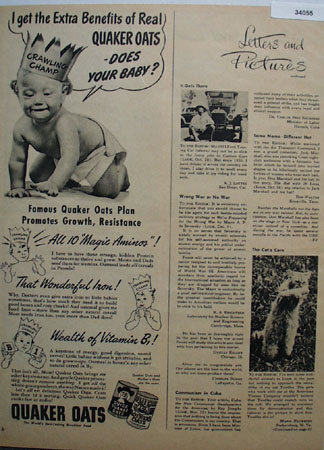 Quick Quaker Oats And Mothers Oats 1948 Ad