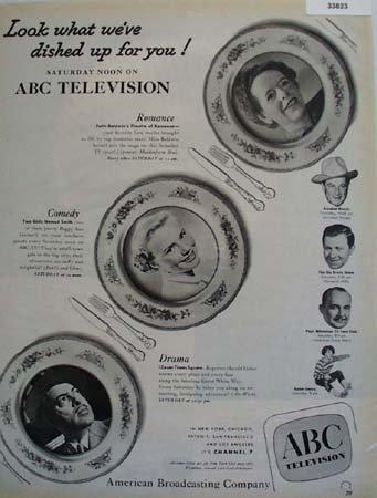 A B C Television Stars 1951 Ad