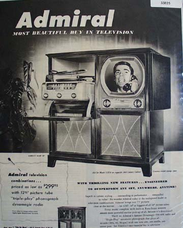 Admiral Television Americas Smart Set 1950 ad
