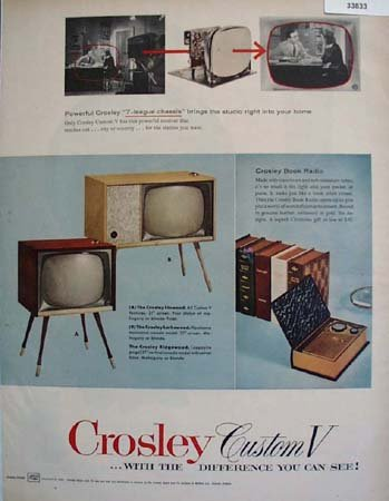 Crosley Radio and TV Custom V 1955 Ad