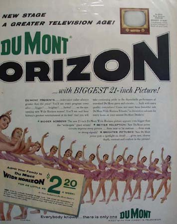 Dumont Television Wide Horizon 1955 Ad