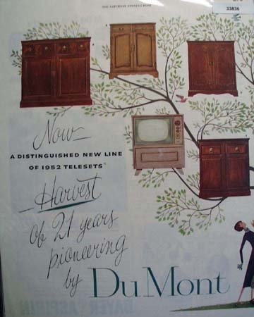 Dumont Television Harvest of 21 Years 1952 Ad