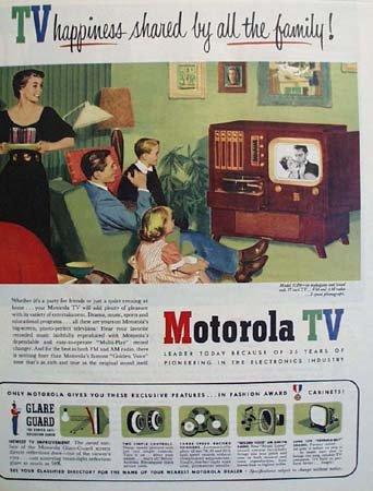 Motorola TV Glare Guard 1951 Ad