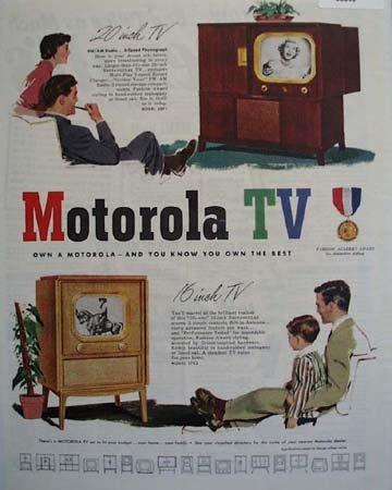 Motorola TV Fashion Academy Award 1950 Ad