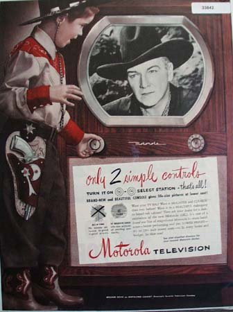 Motorola Television Hopalong Cassidy 1950 Ad