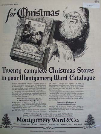 Montgomery Ward and Co. Catalogue 1927 Ad