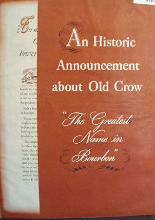 Old Crow Daniel Webster 1953 Ad