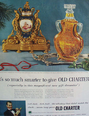 Old Charter Whiskey 1953 Ad