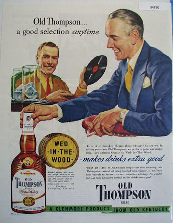 Old Thompson From Old Kentucky 1949 Ad