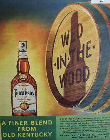 Old Thompson Finer Blend 1950 Ad