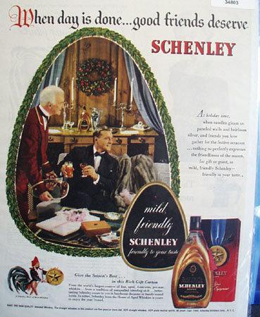 Schenlely Whiskey Season Best 1948 Ad