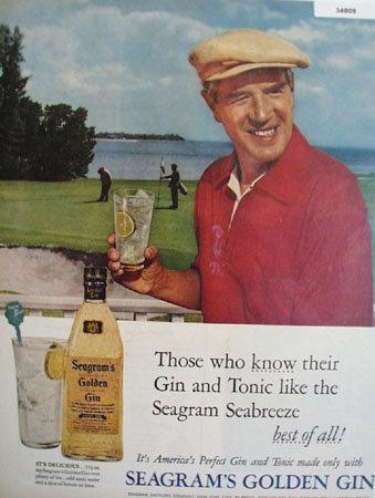 Seagrams Golden Gin 1955 Ad