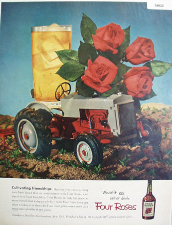 Four Roses Tractor 1952 Ad