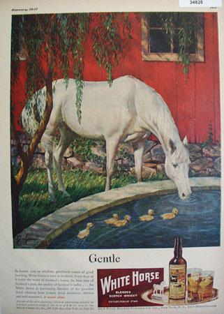 White Horse Blended Whiskey 1947 Ad