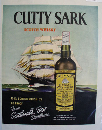 Cutty Sark  Blended Scots Whisky 1956 Ad
