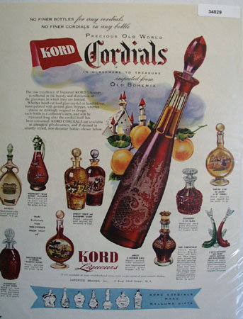 Kord Imported Brands Cordials 1951 Ad