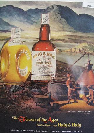 Haig and Haig Blended Scots Whiskey 1951 Ad
