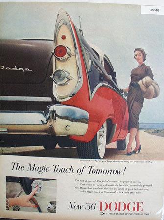 56 Dodge Magic Touch 1955 Ad