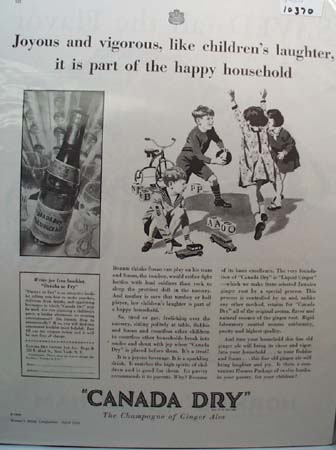 Canada Dry Ginger Ale Joyous Ad 1930