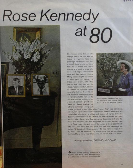 Rose Kennedy at 80 1970 Article