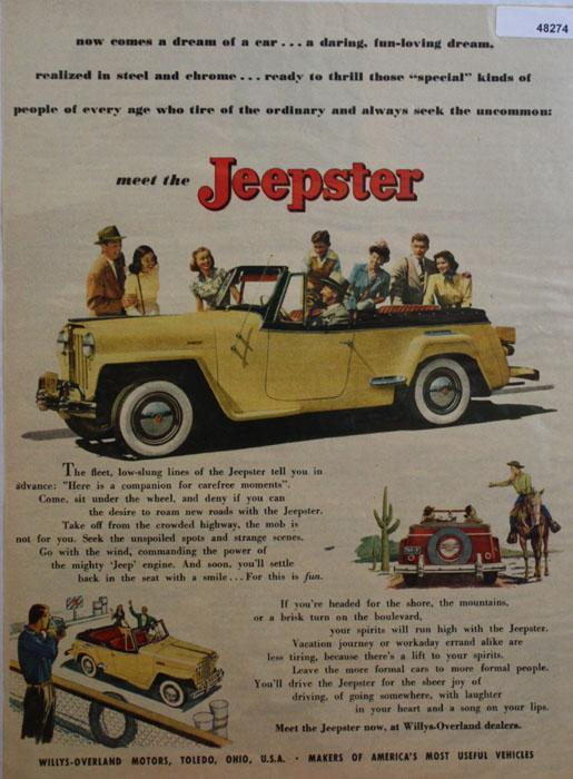 Meet the Jeepster 1948 Ad.