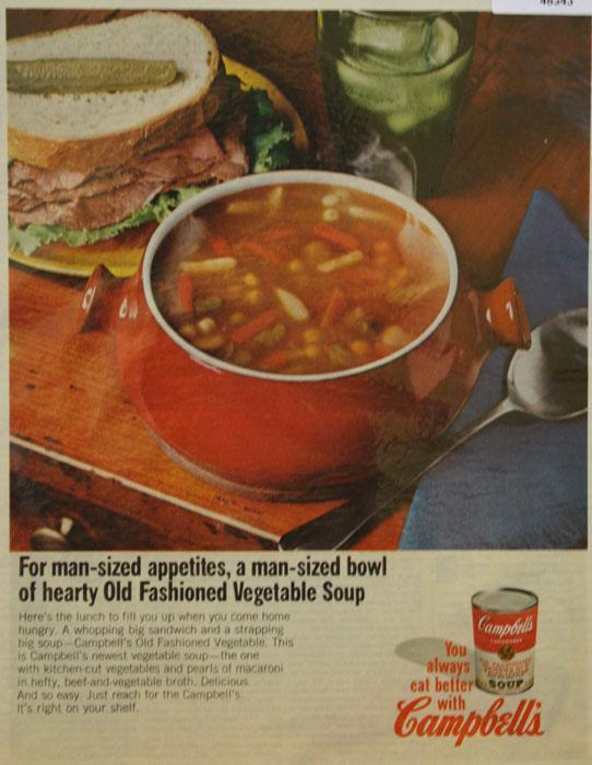 Campbell's Old Fashioned Vegetable soup 1966 Ad