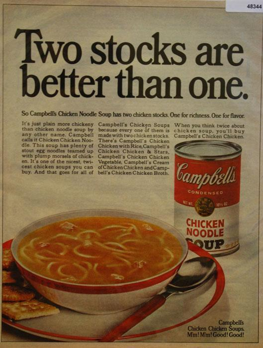 Campbells Chicken Noodle Soup 1968 Ad