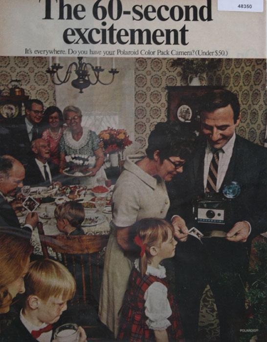 Polaroid Camera 1968 Ad