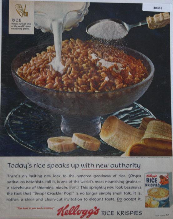 Kellogg's Rice Krispies 1965 Ad