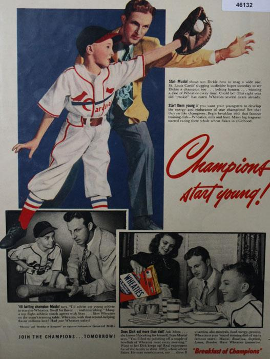 Wheaties Breakfast Of Champions 1949 Ad
