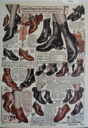 Montgomery Ward Shoes For School Ad 1925