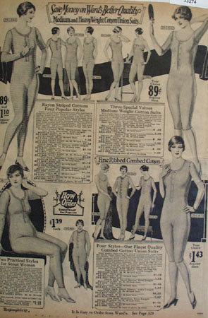 Montgomery Ward Medium Wt. Ladies Union Suits Ad 1925