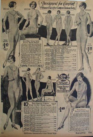 Montgomery Ward Winter Wt. Ladies Union Suits Ad 1925