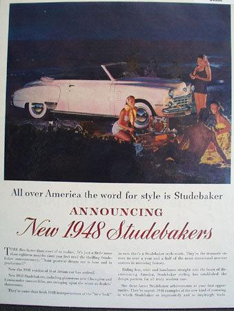 Studebaker Dream Car 1948 Ad