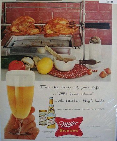 Miller High Life Beer 1957 Ad