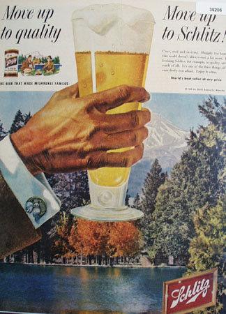 Schlitz Beer Worlds Best Seller 1958 Ad
