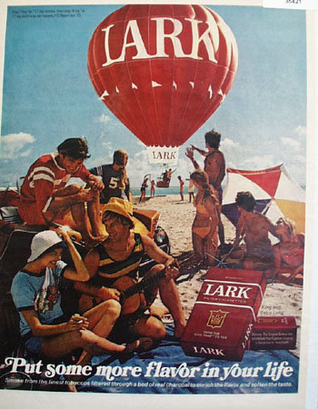 Lark Cigarette Hot Air Balloon 1972 Ad.