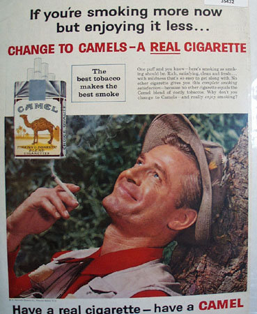 Camel A Real Cigarette 1959 Ad