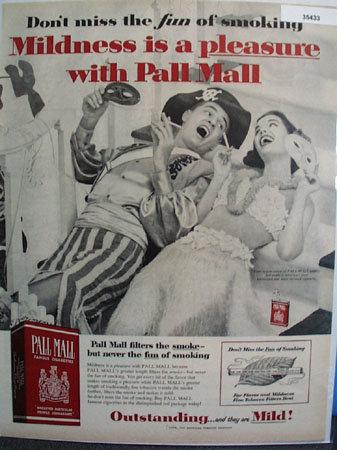 Pall Mall Cigarettes Fun of Smoking 1957 Ad