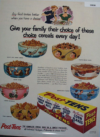 Post Tens The Complete Cereal 1953 Ad